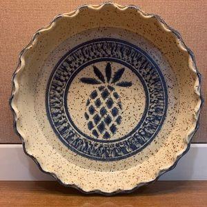 Ceramic Pie Plate - Pineapple Decor